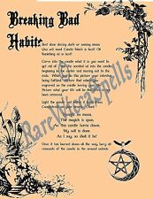 Banish Breaking Bad Habits Spell 1pgParch fr Wicca Pagan Book of Shadows Rituals