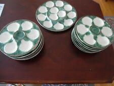 13 piece Oyster Plate Set and Serving Tray