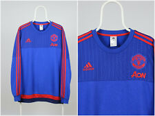 Mens Adidas Manchester United Training Sweatshirt Pullover 06/15 Blue Size XL
