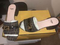 Fendi Ladies Slides  Size 38