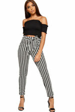 Polyester Machine Washable Stripes Leggings for Women