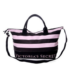 Victoria's Secret Pink & Black Stripes Expandable Travel Tote Bag Pink CODPaypal
