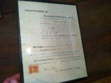 x-60 lancaster co pa  orphans court document 1865 john sauder martin civil war