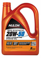 Box Of 3 Nulon Semi Synthetic 20W50 High KM Engine Oil 5L HK20W50-5