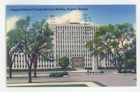 Richmond County Municipal Building AUGUSTA GA Vintage Georgia Postcard