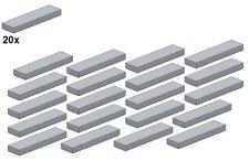Used LEGO® - Smooth Parts - Lightbluishgray - 2431-10 - 1x4 (20Stk) - Fliese - H