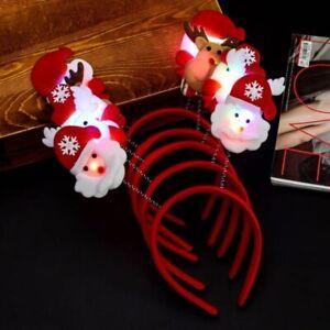 Christmas Headband Hat Glasses Pen Brooch Light Up Accessories Decoration