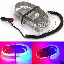240 LED Car Strobe Warning Lamp Emergency Magnetic Hazard Beacon Light Red+Blue