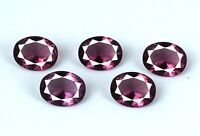Natural Pink Sapphire Gemstone Lot 6.60 Ct/5Pcs Oval Super Sale AGSL Certified