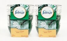 2 Febreze Limited Edition FROSTED PINE Scented 1 - Wick Filled Candle