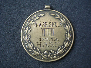 Croatia, Yugoslavia, Club HASK - Zagreb, 1919, sports medal, rare; HAŠK