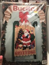 "NIP Sealed Bucilla Santas Sled Card Holder Kit Christmas Decoration 61153 8""x13"""