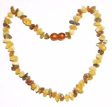 Raw unpolished Baltic amber baby necklace, multicolor chips beads 33 cm /13 inch