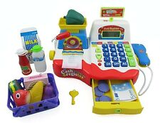 Children's Supermarket Cash Register Checkout Scanner Playset Christmas Toy PS39