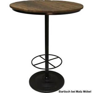 TEGO, Stehtisch rund 80 cm Holz-Eisen industriell, Barmöbel Tisch bei Matz Möbel
