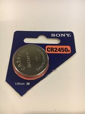 1 NEW Sony CR2450 Lithium Coin Watch Battery Exp 2025 USA Seller