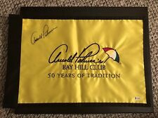 Arnold Palmer Signed Bay Hill Pin Flag Beckett Certified