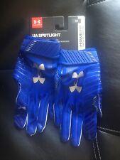 Under Armour Spotlight Football Gloves Blue 1326218 400 Adult Men Size Small
