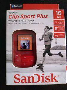 SanDisk SDMX28-016G-A46K ClipSport MP3 Player - Red