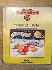 Vintage ~ World of Teddy Ruxpin Book ~ Lullaby Warm Cuddly Songs to Dream By
