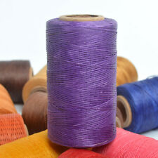 Purple Sewing Leather Waxed Polyester Thread 260m Spool 1mm Flat Leathercraft US