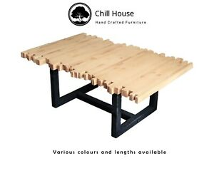 Rustic Coffee Table handmade from solid wood, Square or Hairpin legs