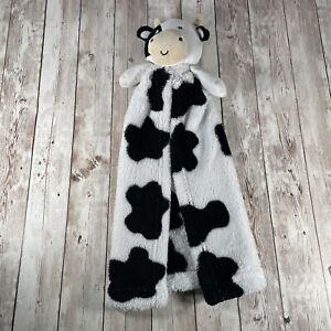 SECURITY Blanket CUTIE PIE Black & White COW Bull Plush My 1st Buddy Baby Lovey
