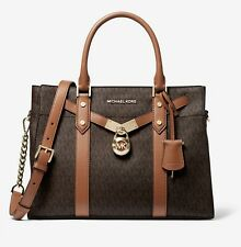 Michael Kors Bag Handbag Nouveau Hamilton Large Satchel Bag Braun New