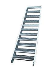 Stahltreppe Treppe 11 Stufen-Stufenbreite 60cm /Geschosshöhe 165-220cm verzinkt