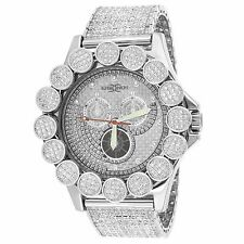 Iced Out Khronos Watch Stainless Steel Back Lab Diamond 52mm Jojo Iced Tray Band