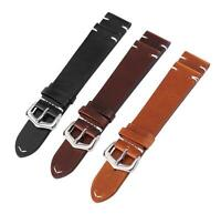 18-24mm Retro Genuine Leather Watch Strap Bracelet Replacement Smart Watch Band