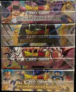 Dragon Ball Super Card Game Special Anniversary Box 2021 Display (Set of 4)