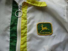 Vintage John Deere Patch Wind Breaker Jacket Large Louisville Mfg Co.