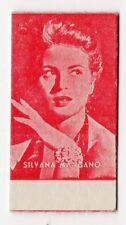 Spanish Weighing Weight Machine Card Calzados Garcera Actress Silvana Mangano