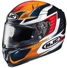 New HJC RPHA-10 Pro Elsworth Full-Face Helmet, MC-6/Orange/Black/Red, Med/MD