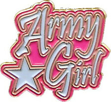 "Army Girl - ~1"" Inch Military Lapel Pin 77027"