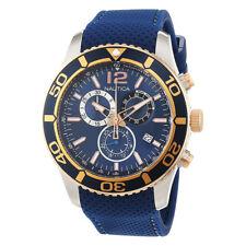 Nautica Blue Mens Analog Sport NST 09 Chronograph NAI16502G