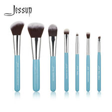 Jessup Travel Beauty Blue Makeup Brush Set Portable Powder Blush Foundation Eye