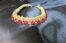 PARK LANE RUBY AND GOLD NECKLACE