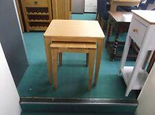 New Ex Debenhams Nord Contemporary Solid Oak Nest Of Tables RRP £299