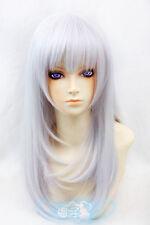 AA Kushina Anna Silver Purple 60 cm Cosplay synthetic Wig free shipping