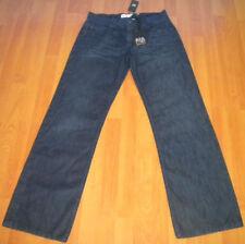Cotton Indigo, Dark wash Long Rise 34L Jeans for Men