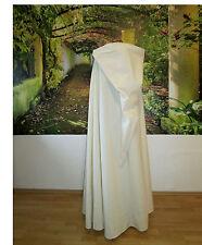 Kapuzenumhang Baumwolle natur creme Mittelalter Mantel Umhang CAPE beige Sand XL