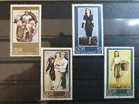 German DDR 1988 Birth Centenary of Max Lingner (artist). 4 stamp set MNH