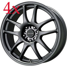 Drag Wheels DR-31 17x8 5x100 5x114 +47 Charcoal Gray Rims For Lancer Celica DSM