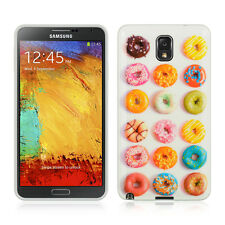 Donuts Design TPU Gel Skin Case Cover for Samsung Galaxy Note 3 III
