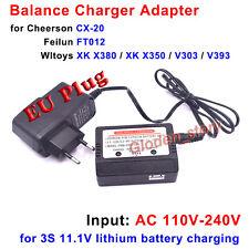 11.1V (3S) Lipo Battery Charger EU Plug for Cheerson CX-20 Feilun FT012 XK X380