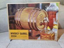 New listing Wood Whiskey Barrel Quality Vintage Drink Dispenser 27oz/800mL New in box.