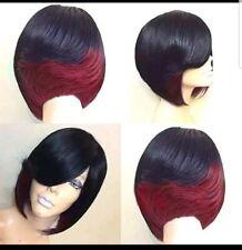 "Fashion Fabulous Synthetic Straight Hair Bob Wigs 10"" color: Black/Burgundy New"