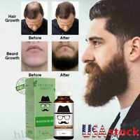 Beard Growth Oil Serum Fast Growing Beard Mustache Facial Hair Grooming for Men~
